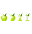 biten apple vector image