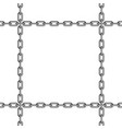 black chain pattern vector image vector image