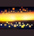 blue yellow orange black glowing various tiles vector image