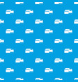 booth for dog pattern seamless blue vector image vector image