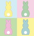 Bunny 4 panels vector image