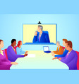 business people having teleconference meeting vector image vector image