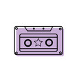 color old cassette retro object stereo vector image