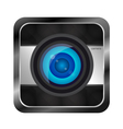 Color photo camera icon vector image vector image