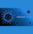 coranavirus covid19 19 blue vector image