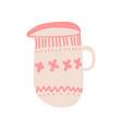 creamer milk jug for cofee or tea cute ceramic vector image