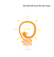 Creative light bulb logo design template vector image vector image