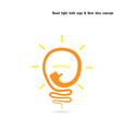 Creative light bulb logo design template vector image