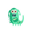 cute happy cartoon monster fabulous incredible vector image vector image