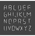 English modern letters set over black vector image