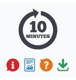 every 10 minutes sign icon full rotation arrow