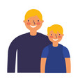 father and son characters on white background vector image vector image