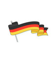 flag germany with three stripe german flag vector image