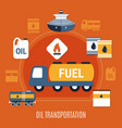 fuel pump colored composition vector image vector image