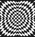 geometric checkered pattern black and white vector image vector image