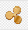 golden ripple coin trendy 3d style icon vector image