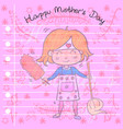 greeting card of mother day style vector image vector image