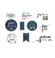hand drawn template collection with vector image vector image