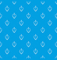 heart shaped pendant pattern seamless blue vector image vector image