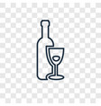 hebrew wine concept linear icon isolated on vector image