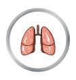 Human lungs icon in cartoon style isolated on vector image