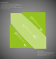 Infographic template with rectangle askew divided vector image vector image