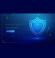 internet security for computer vpn safety cyber vector image