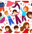 love boy and girl isolated seamless pattern on vector image vector image