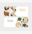 malaysian restaurant hand drawn banner vector image