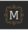 Monogram design elements template Letter Vintage vector image vector image