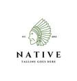native america logo vector image