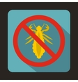 No louse sign icon flat style vector image vector image