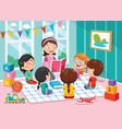 of preschool children vector image vector image