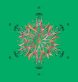 pattern with snowflakes christmas abstract vector image vector image