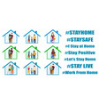 people inside house in quarantine vector image vector image