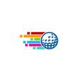 pixel art golf logo icon design vector image