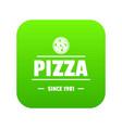 pizza tomato icon green vector image vector image