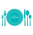 plate knife and fork icon Menu sign vector image