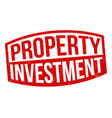 property investment grunge rubber stamp vector image