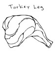 raw turkey leg realistic vector image