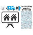 Realty Project Icon with 1000 Medical Business vector image vector image