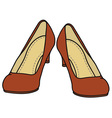 Red pumps vector image vector image