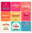 Retro Bakery Label Set vector image vector image