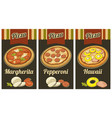 retro vintage poster whole pepperoni vector image