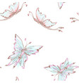 seamless background from tender butterflies vector image vector image