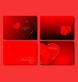 set happy valentines day posters cards vector image vector image