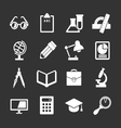 Set icons of school and education vector image vector image