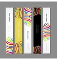Set of banners colorful zebra print design vector image