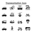 set transportation related icons contains such vector image