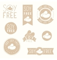 Soy free badges vector image vector image